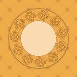 Carta decorativa beige con l'ornamento Illustrazione di Stock