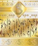 Carta decorativa con i simboli di dollaro Immagine Stock