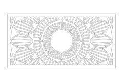 Carta decorativa per tagliare Modello di Mandala Geometry Pannello del taglio del laser 1:2 di rapporto Illustrazione di vettore illustrazione vettoriale