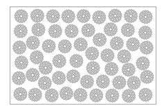 Carta decorativa per tagliare Ripeti il modello del punto Pannello del taglio del laser 2:3 di rapporto Illustrazione di vettore Immagini Stock Libere da Diritti