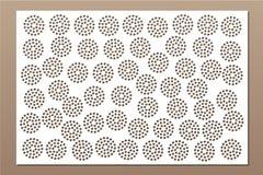 Carta decorativa per tagliare Ripeti il modello del punto Pannello del taglio del laser 2:3 di rapporto Illustrazione di vettore Fotografie Stock
