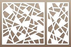Carta decorativa stabilita per tagliare righe astratte reticolo Laser c illustrazione di stock