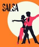 Carta dei ballerini della salsa illustrazione di stock