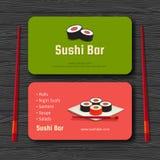 Carta dei sushi Immagine Stock Libera da Diritti