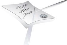 Carta del Año Nuevo stock de ilustración