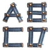 Carta del alfabeto número 7 de los pantalones vaqueros stock de ilustración