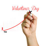 Carta del amor para el día de tarjeta del día de San Valentín Fotografía de archivo