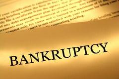 Carta del aviso de la bancarrota Foto de archivo libre de regalías