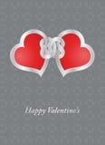 Carta del biglietto di S. Valentino Fotografie Stock Libere da Diritti