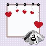 Carta del biglietto di S. Valentino illustrazione vettoriale