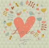Carta del biglietto di S. Valentino Fotografia Stock