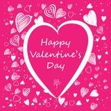 Carta del biglietto di S. Valentino Immagini Stock Libere da Diritti