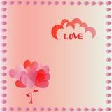 Carta del biglietto di S. Valentino del cuore Fotografia Stock Libera da Diritti