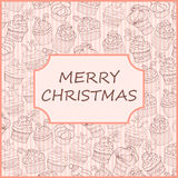 Carta del bigné di Natale Fotografie Stock