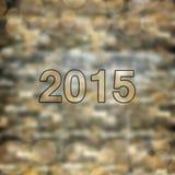 Carta del buon anno 2015 Fotografia Stock