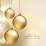 Carta del buon anno e di Buon Natale Fotografie Stock Libere da Diritti