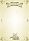Carta del circo Imágenes de archivo libres de regalías