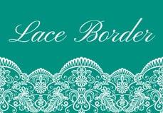 Carta del confine del pizzo illustrazione vettoriale