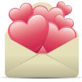 Carta del corazón ilustración del vector