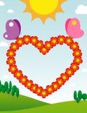 Carta del cuore Illustrazione di Stock