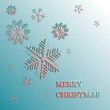 Carta del fiocco di neve di natale di vettore Buon Natale Illustrazione di Stock