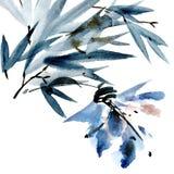 Carta del fiore dell'acquerello Immagine Stock