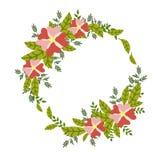 Carta del fiore, invito, modello dell'insegna Immagine Stock Libera da Diritti