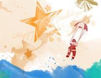 Carta del fondo di Natale con fondo astratto Fotografie Stock
