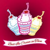 Carta 7 del gelato Fotografia Stock Libera da Diritti