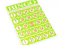 Carta del gioco di bingo Immagini Stock Libere da Diritti