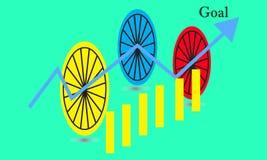 Carta del gráfico del palillo del negocio del comercio de la inversión del mercado de acción tendencia del dise?o del vector del  ilustración del vector