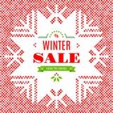 Carta del manifesto del fondo di vendita di inverno Immagine Stock