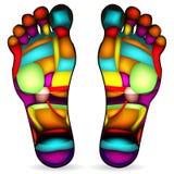 Carta del masaje del pie Fotos de archivo libres de regalías