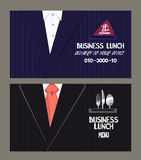Carta del menu del pranzo di lavoro e di servizio di distribuzione Immagine Stock Libera da Diritti