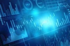 Carta del mercado de acción Fondo del gráfico de negocio stock de ilustración