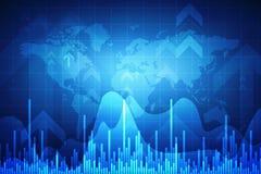 Carta del mercado de acción Fondo del gráfico de negocio, fondo financiero, fondo de las divisas stock de ilustración