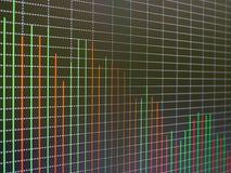 Carta del mercado de acción, gráfico en fondo negro Imagen de archivo libre de regalías