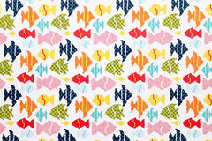 Carta del modello del pesce Fotografia Stock