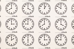 Carta del modello dell'orologio Immagine Stock Libera da Diritti