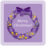 Carta del modello di progettazione di Natale Immagine Stock