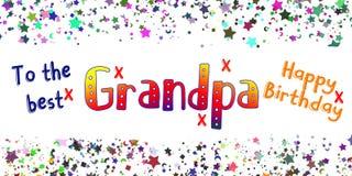 Carta del nonno di buon compleanno Fotografie Stock Libere da Diritti
