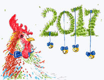 Carta del nuovo anno 2017 Fotografia Stock Libera da Diritti