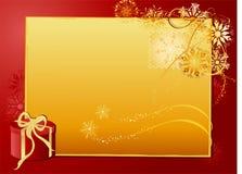 Carta del oro de la Navidad Imagen de archivo libre de regalías