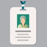 Carta del passaggio del distintivo di ammissione del personale o carta di identità di identificazione Fotografie Stock