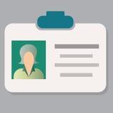 Carta del passaggio del distintivo di ammissione del personale o carta di identità di identificazione Immagine Stock