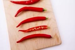 Carta del peperoncino rosso Fotografie Stock