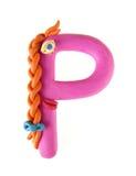 Carta del Plasticine, bloomer ?P? 2 imagen de archivo libre de regalías