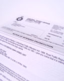 Carta del procesamiento Imagen de archivo