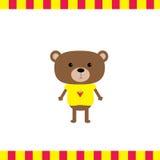 Carta del ragazzo dell'orso del fumetto Immagine Stock