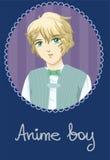 Carta del ragazzo di anime Fotografia Stock